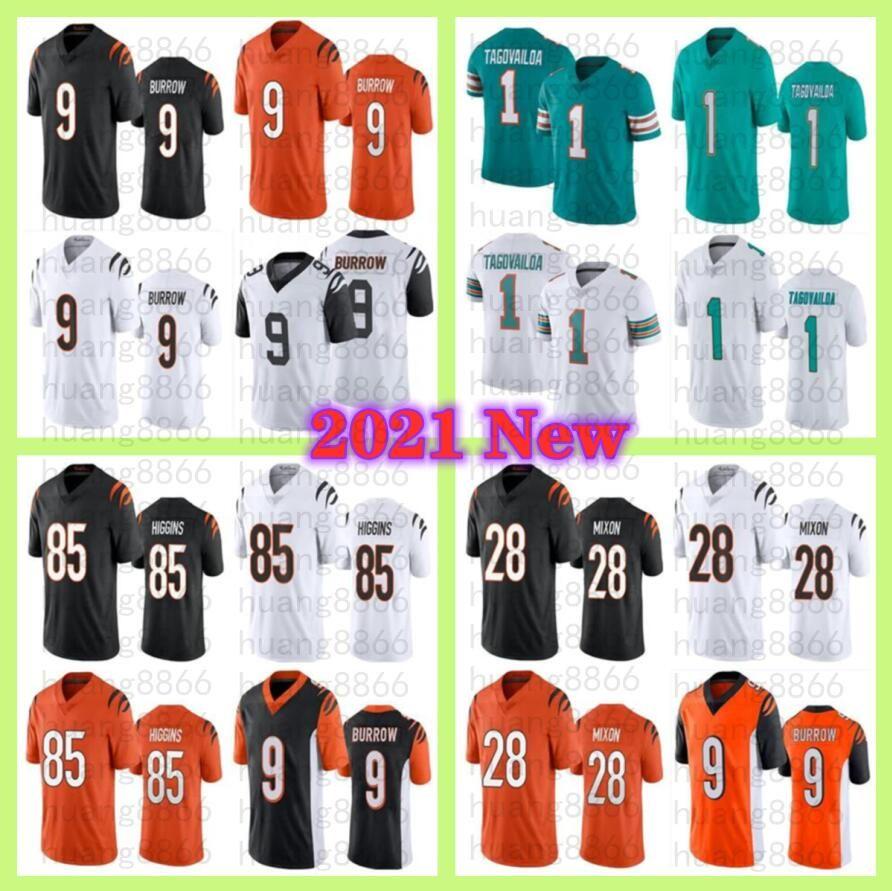2021 رجلا 1 تاو Tagovailoa 9 Joe Burrow 85 Tee Higgins 28 Mixon Football Jersey