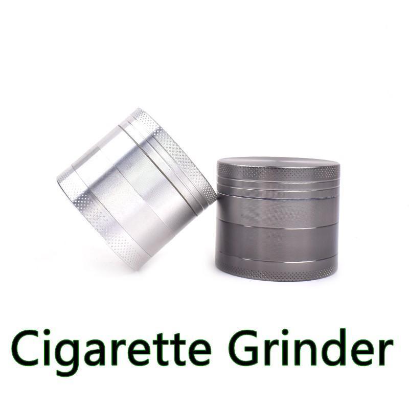 Min.6PCS Molinillo de humo 4 capas de 63mm Tobacco Grinder de aleación de zinc Metal para fumar fumadores Hierbas secas Vaporizador Accesorio