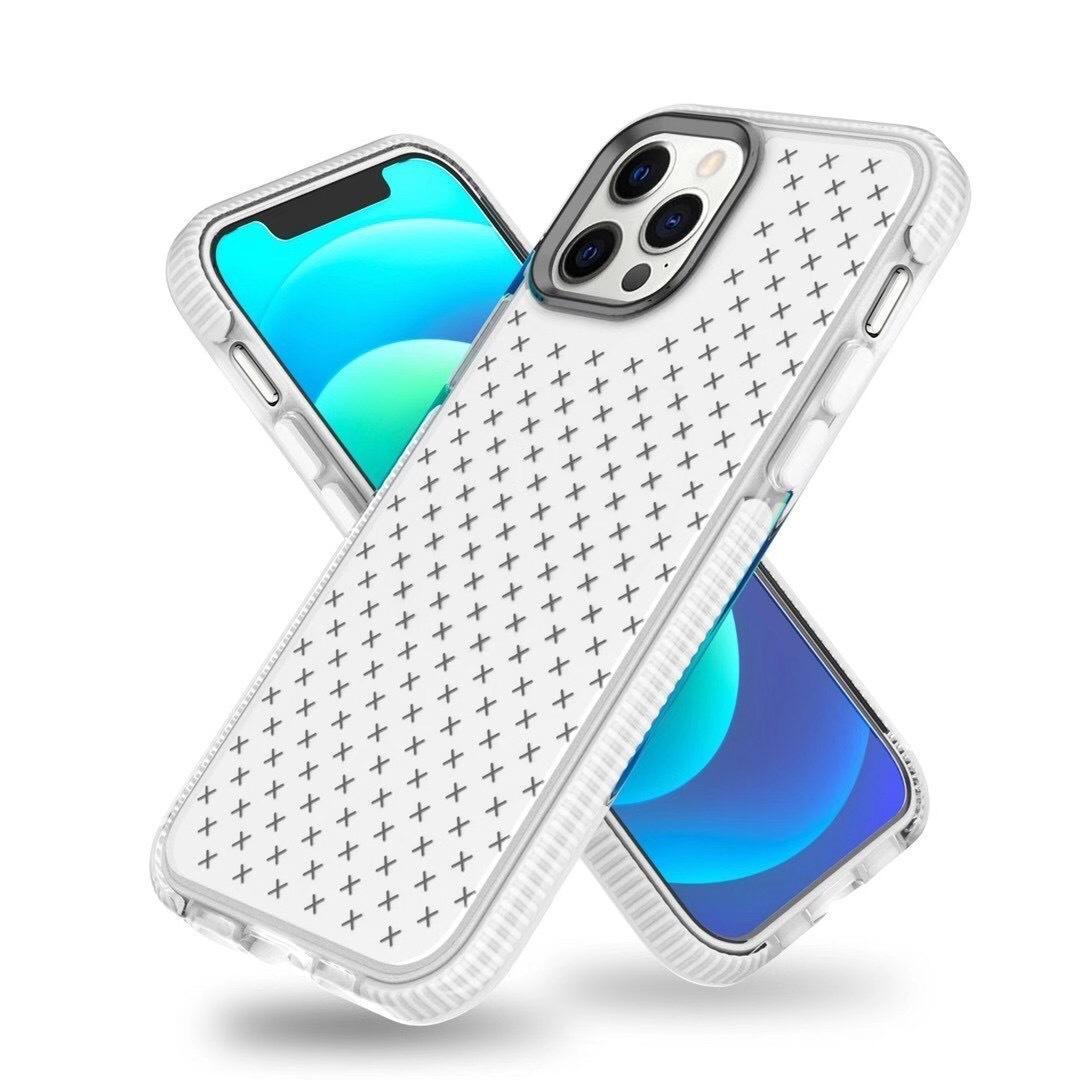Protección contra caídas de grado militar Cajas de teléfono transparente transparente para iPhone 12 11 Pro Max Mini Dual Color TPU suave