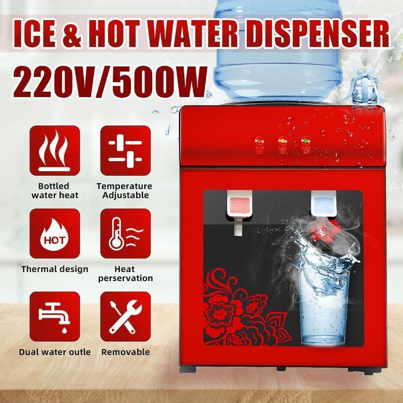 전기 워터 디스펜서 데스크탑 마시는 분수 차가운 따뜻한 쿨러 히터 홈 오피스 커피 티 도우미