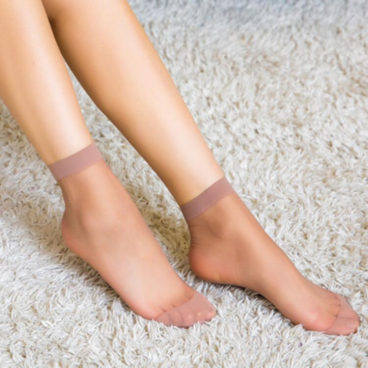 New crystal silk socks Ultra-thin women's short stockings Summer pair of socks Women's anti-hook silk socks