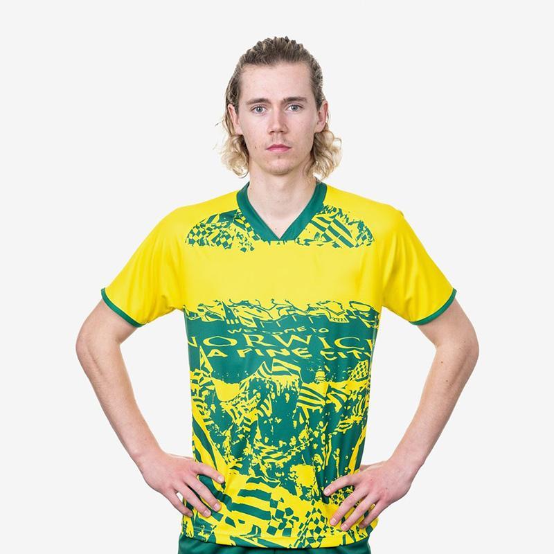 Norwich City 2020 21 Futebol Especial Jersey Edition Kit Camiseta Predominantly Yellow Futebol Camisa Futebol Green Colar Uniforme