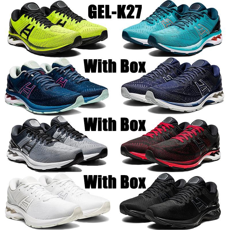 مع مربع أعلى جودة gel-k27 الاحذية تكنو سماوي الشروق الأحمر البلاتين gs الثلاثي الأبيض الرجال الرجال أحذية رياضية النساء المدربين الولايات المتحدة 4-11