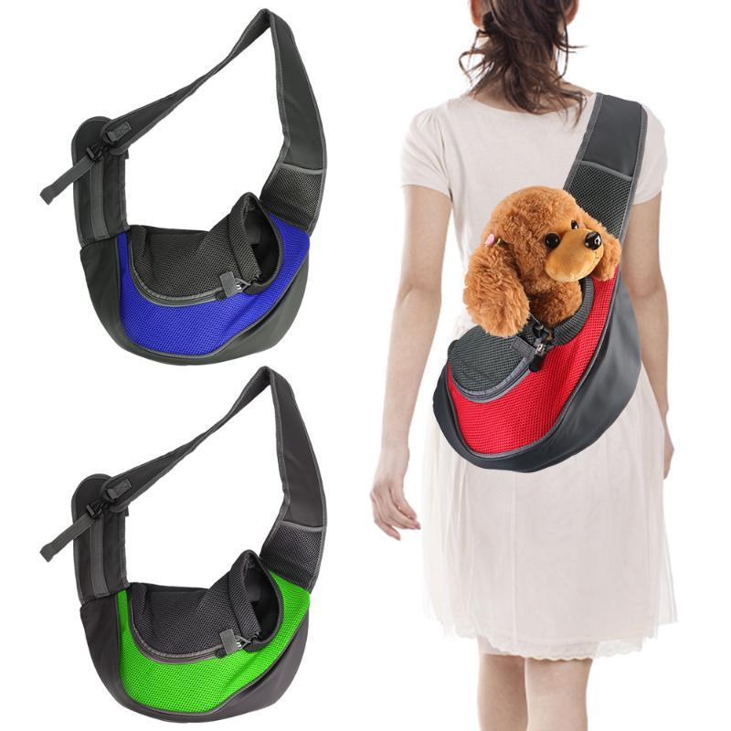 Pet Backpack Dog Carriers & Bags Mesh Oxford Sling Shoulder Bag Tote Pouch Supplies Breathable And Comfortable Car Seat Covers