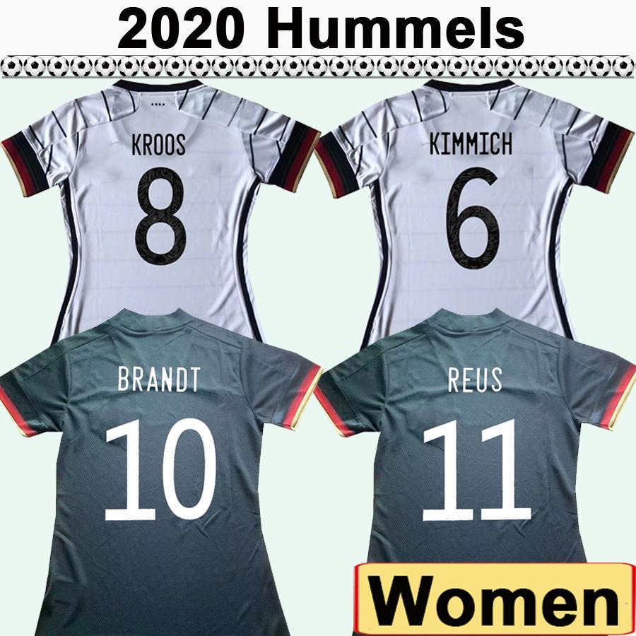 20 21 Muller Draxler Femmes Soccer Jerseys Hummels Kroos Chemise de football Chemise de football National Team Werner Boateng Sleeve Sleeve Lady Uniformes