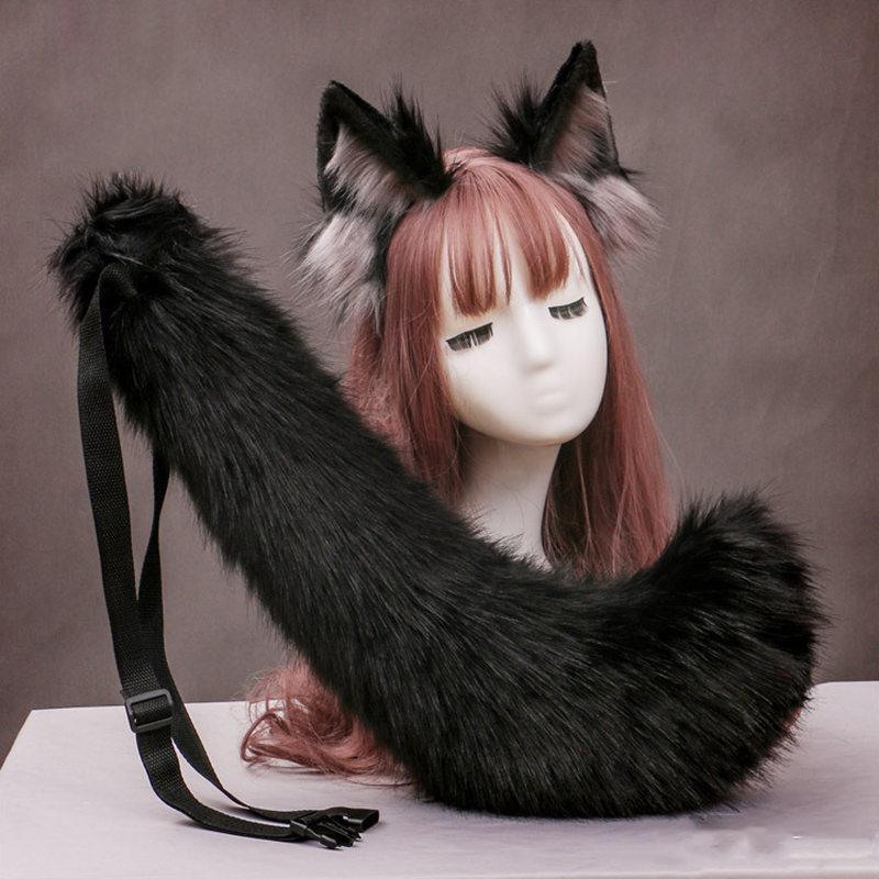 Lolita Wolf S Anime Fox Ear et queue Cosplay Fashion Bandeau de mode