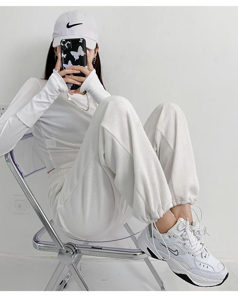 Designs Pantalons d'été Femmes Confort molle Taille haute Pantalon Pantalon Couleur Solide Pantalons Femme Pantalon lâche Plus Taille