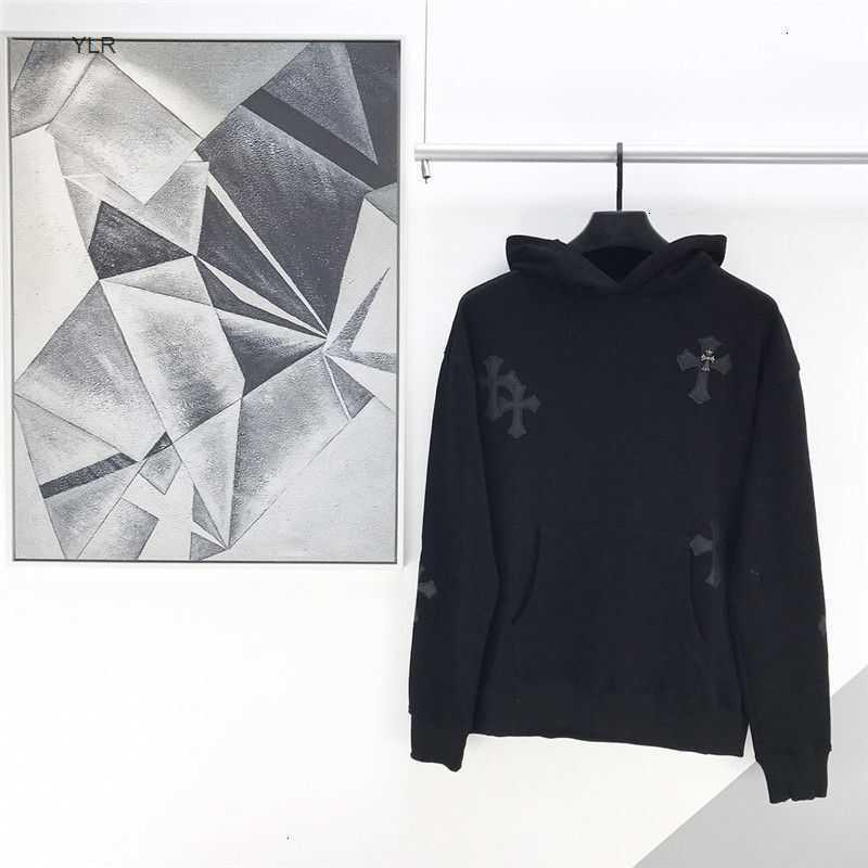 Casquillo de otoño bordado de invierno de lujo con cruz de cachemira negra