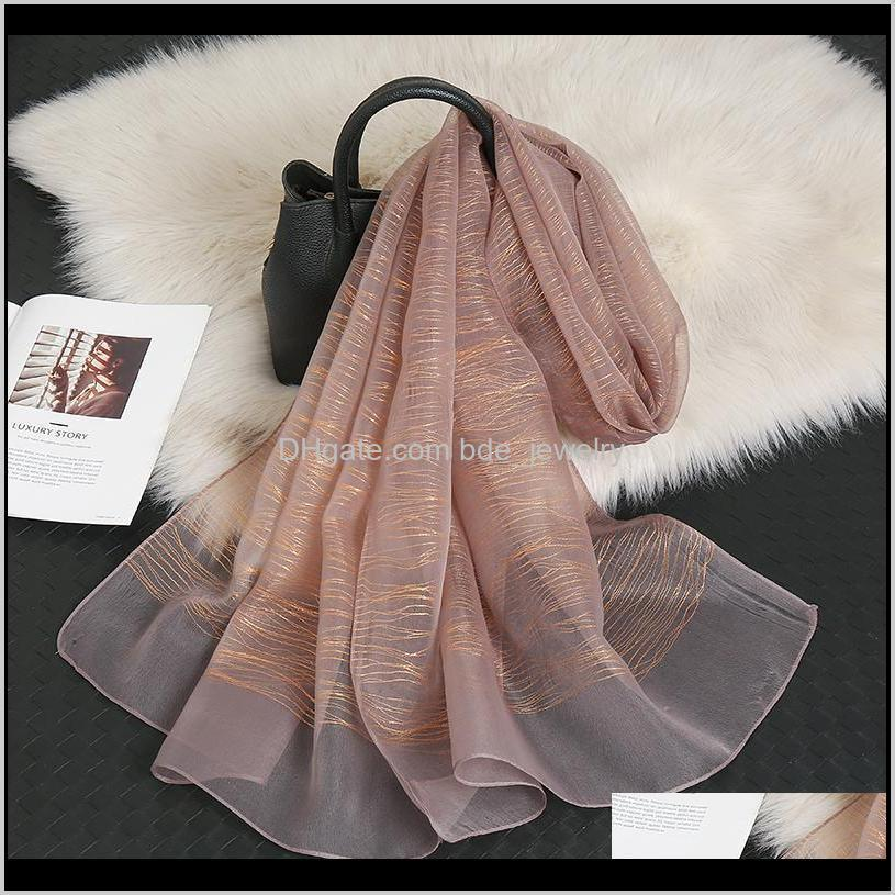 Sombreros, Guantes Aessories2021 Est Glitter Bufanda Bufanda Seda Bufandas Musulmán Hijabs Mujeres Lujos Chales Moda Fashion Wraps Turbans Cabeza de gran tamaño
