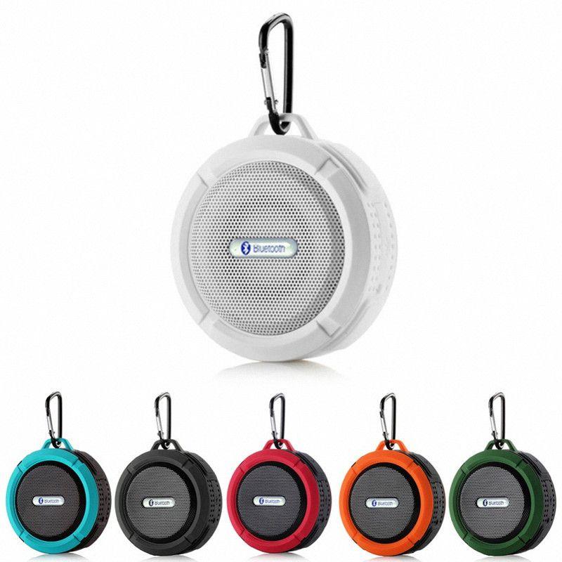 Мини Bluetooth-динамик C6 динамик беспроводной питьевой аудио игрока Водонепроницаемый динамик крюк и всасывающая чашка стерео музыкальный проигрыватель