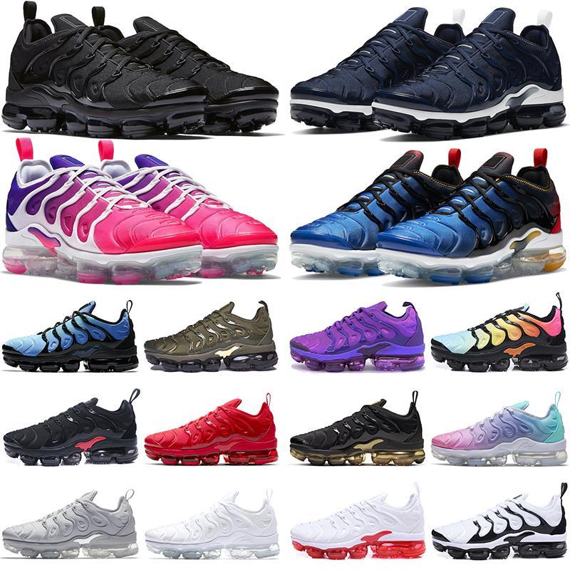 TN PLUS Открытый пробег обувь мужчины женские TNS Triple черный оливковый Suman все красные мужские женские тренажеры спортивные кроссовки промирены 36-47