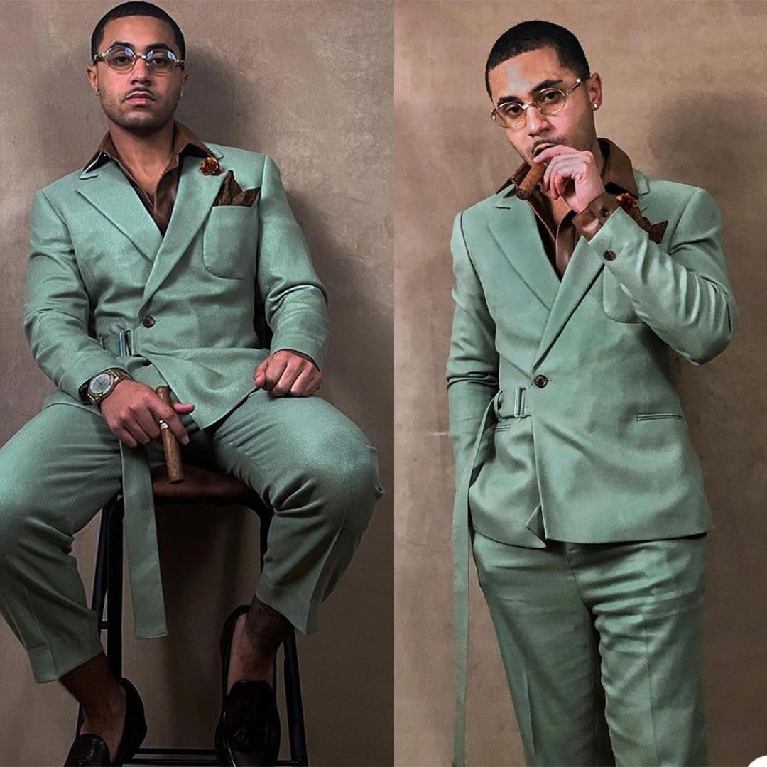 Unique Designer Men Customized Wedding Tuxedos Red Carpet Groom Wear Dinner Prom Party Blazer (Jacket+Pants)