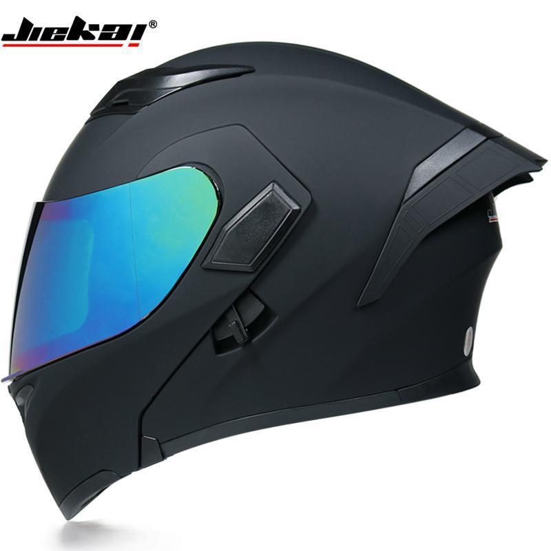 Casques de moto Dot Cool Dual-Lens Intérieur Visière Modular Flip Casque Capacetes Homme Knight Racing Moto hors route