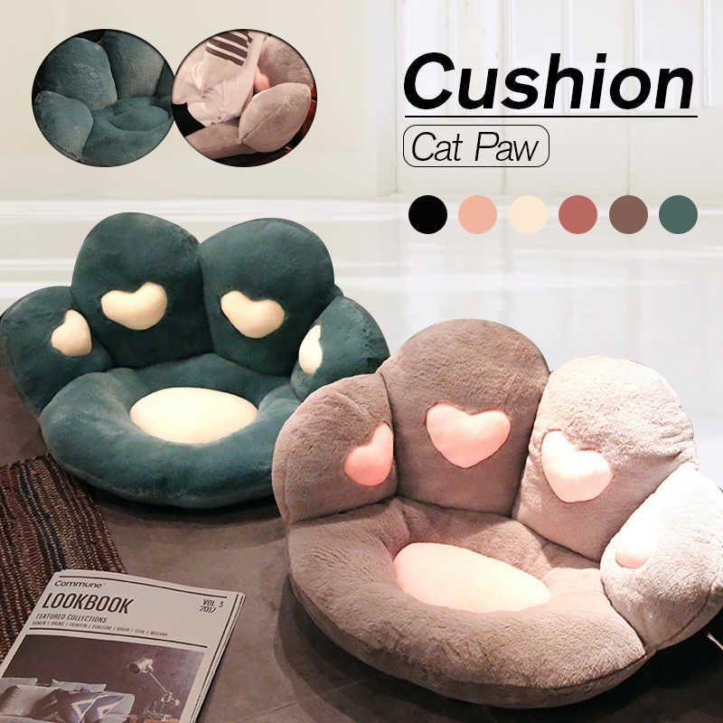 Cute Cat مخلب تصميم وسادة الأطفال أفخم، أريكة أو وسادة مقعد، الديكور الطابق الداخلي، وسادة الهدايا. J0601.