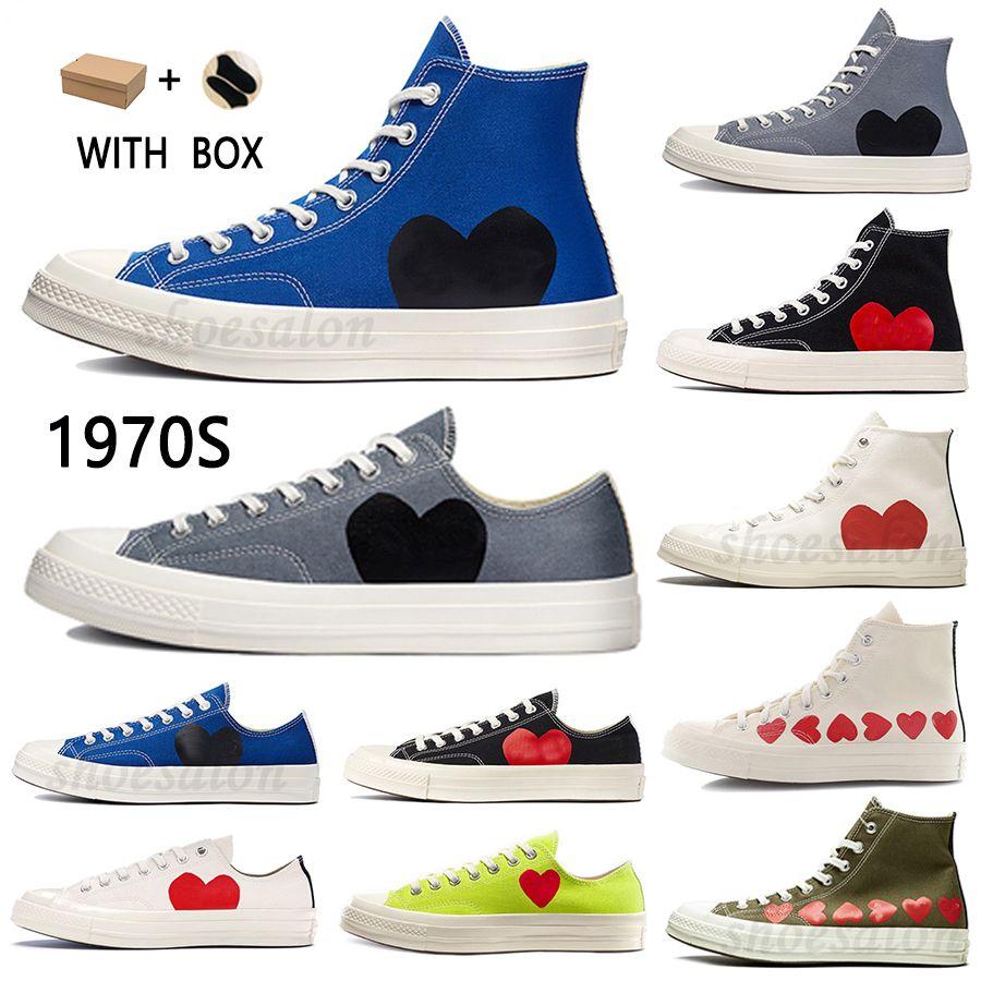 2021 الكلاسيكية عارضة الرجال إمرأة قماش أحذية 1970s ستار أحذية رياضية تشاك 70 الطبطبات 1970 عيون كبيرة حذاء رياضة منصة stras الحذاء معا اسم الحرم الجامعي