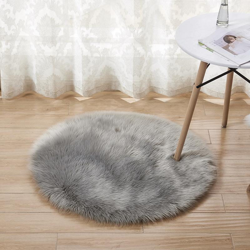 Plush Sheepskin Throw Rug Faux Fur Elegant Chic Style Cozy Shaggy Floor Mat Area Rugs Home Decorator Dropshipping 318 R2