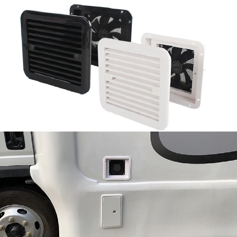 1x الثلاجة تنفيس مع مروحة ل rv مقطورة قافلة الجانب الهواء منفذ التهوية العادم استبدال السيارات الأبيض الملحقات atv أجزاء