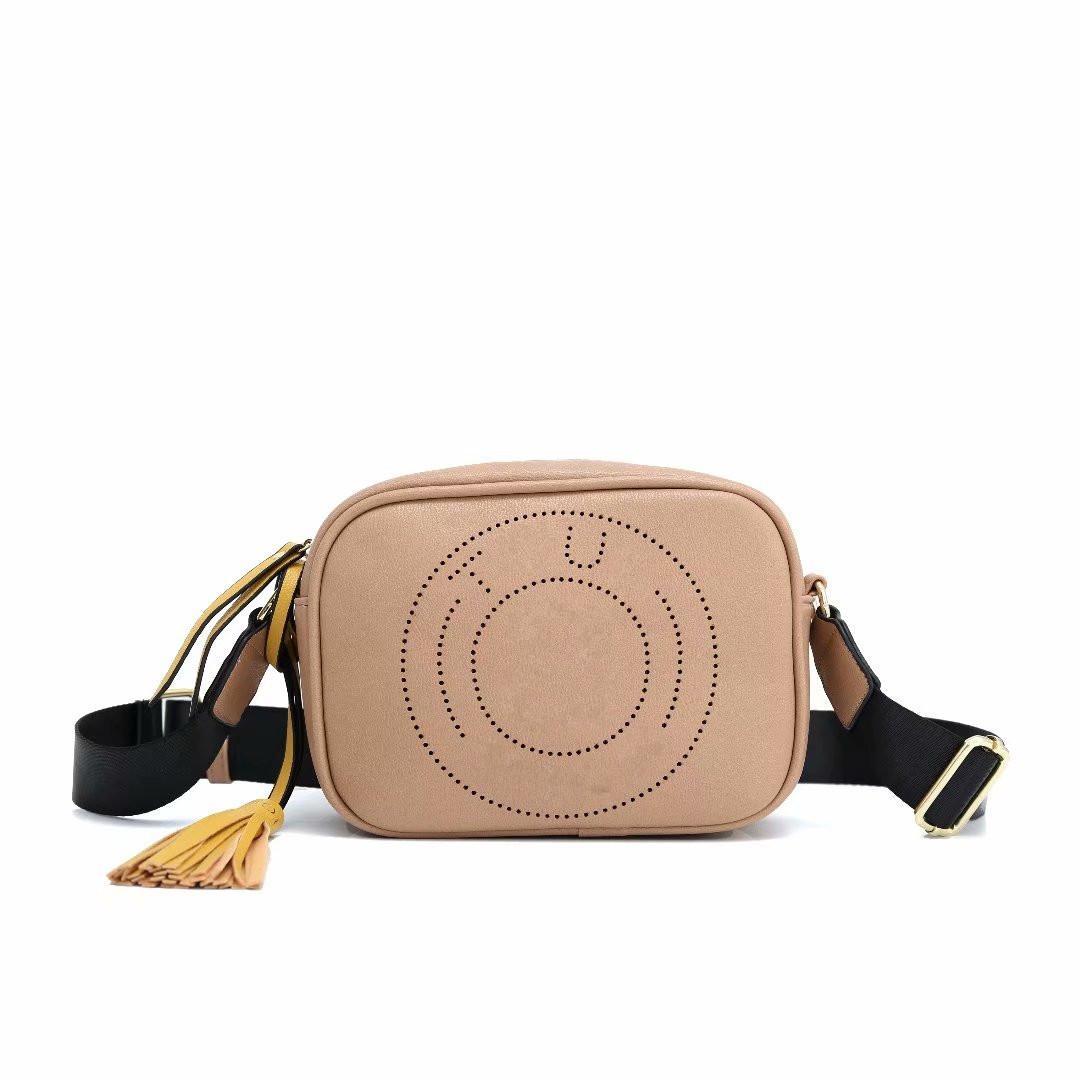 Мода женская маленькая квадратная сумка девушка кожаные плечо мессенджера сумка кисточек скрещенные сумки