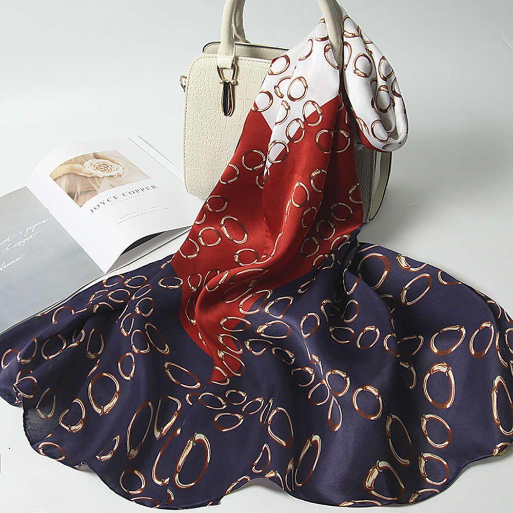 Sciarpa da donna di alta qualità di alta qualità Sciarpa da donna in satinata elegante Sciarpa da stampa elegante