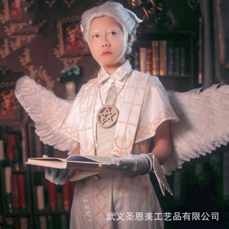 Die fünfte Persönlichkeit Cos Kleidung Light Angel Weibliche Cosplay Kleidung Animation Perücke Flügelspritze Set