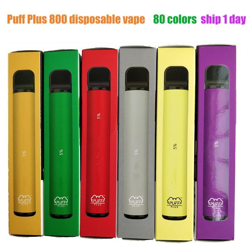 퍼프 플러스 800+ 사전 채워진 일회용 포드 전자 담배 vape 포드 스틱 E Cigs 휴대용 기화기 Xtra