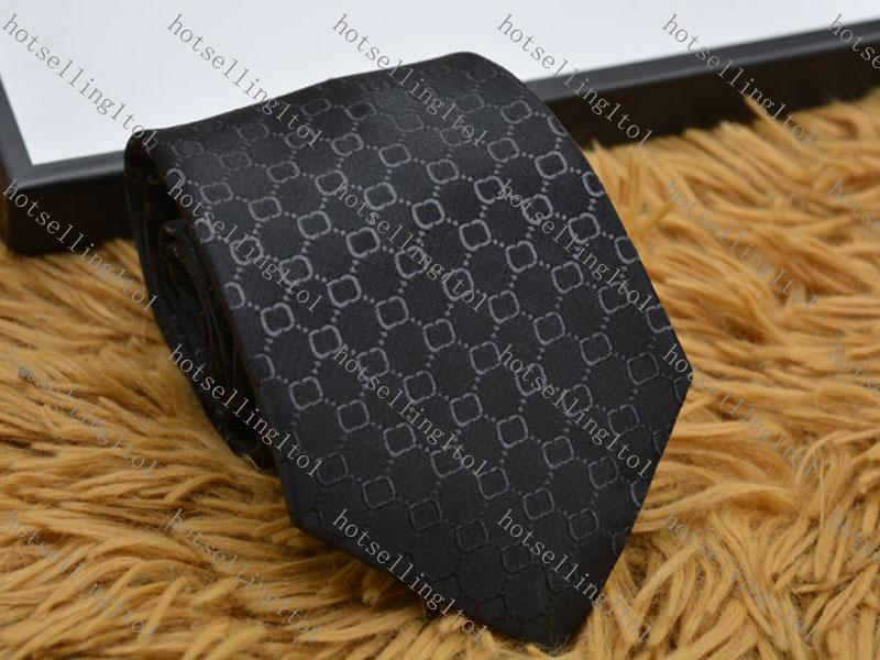 Erkek Mektubu Kravat Ipek Kravat Siyah Mavi Jakarlı Parti Düğün Iş Dokuma Moda Tasarım Kutusu G898