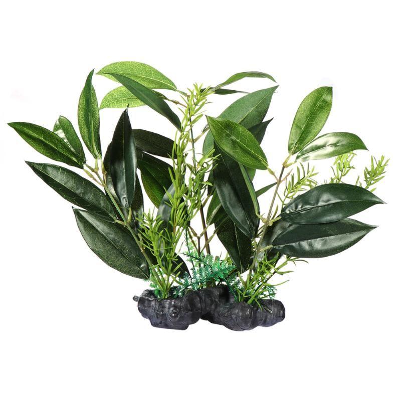 Flores decorativas grinaldas popetpop folha artificial folha linda decoração aquário para o tanque de peixes da loja de casa
