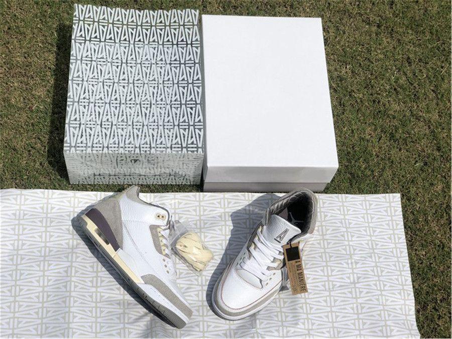 A MA Maniere x Authentique 3 Chaussures Hommes Moyen Gris Violet Violet FRANÇAIS WHAND MANIÉRE FRAGMENT MOCHA UNC RACER BLUE BASKERS AVEC BOX D'ORIGINE US7-13