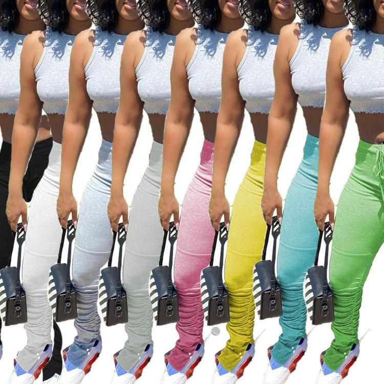 Baggy Cargo Damen Mode Designer Kleidung 8 Farben Die neue Auflistung Beliebte einfarbige Casual Hosen Sport DHL