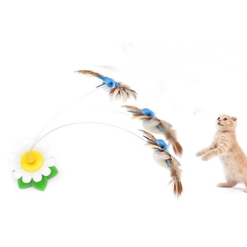 Est Birdie Swivel Swivel Birdie Gato Engraçado Pet Toy Gatinho Juguete Electrico Divertido del Gato Gota 2021 Brinquedos
