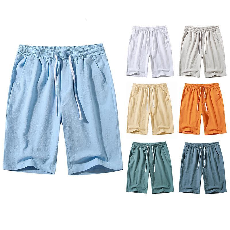 2021 homens casuais shorts elásticos cintura cordão fino verão calças de praia