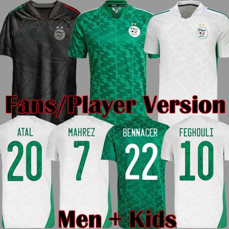 Argélia 2019 2 ESTRELAS Campeão da África do Sul AFCON MAHREZ Camisas de Futebol ATAL BRAHIMI FEGHOULI BOUNEDJAH BOUAZZA Camisas de Futebol de Alta Qualidade