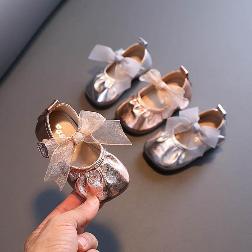 الرضع أحذية رياضية الفتيات أحذية طفل حذاء أطفال عارضة الأحذية ربيع الخريف الرباط القوس الأميرة طفل ارتداء B7853