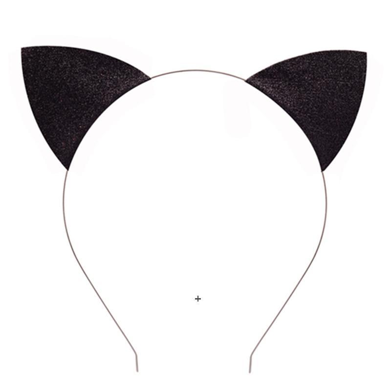 Chat oreilles bandeau mignon jolie paillettes chat oreille de chapeau de chapeau de chapitre bandeau bandeau bandeau de tête hoop clasps owe8312