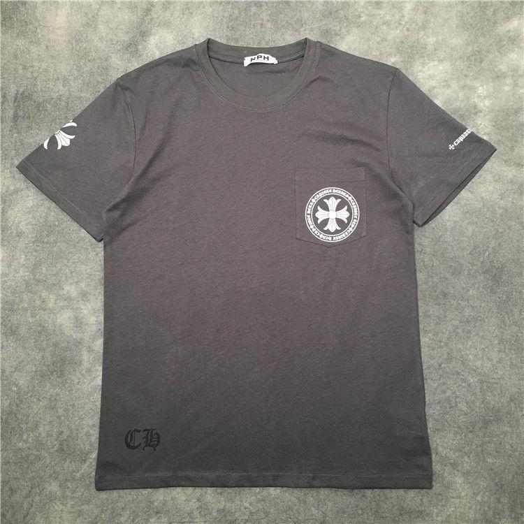 Rodada Cruz Masculina e Mulheres Mesmas Estilo Loose Neutral Algodão Terno Versátil Moda Marca Grande Manga Curta T-shirt