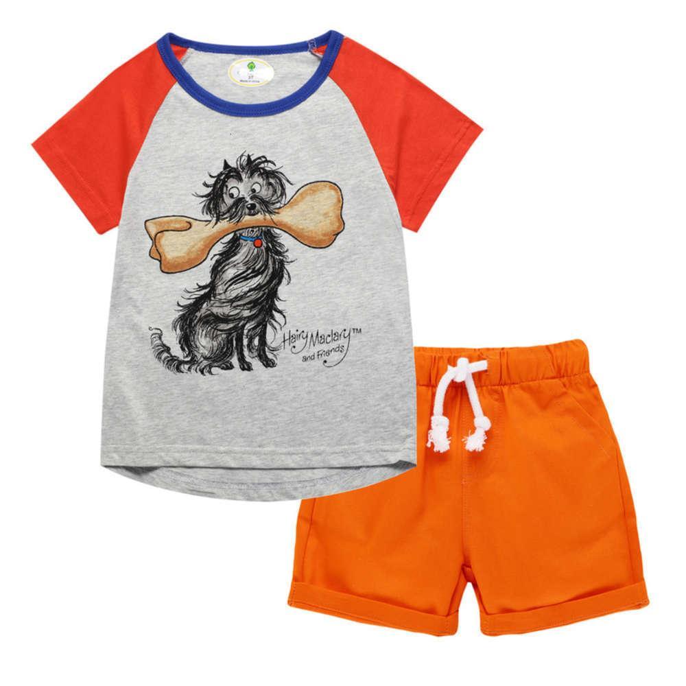 Enfants Litkorean Summer 2021 Set de t-shirt de garçons en coton pur coton pur