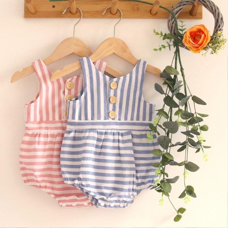 Рожденные младенческие мальчики для мальчиков девочки без рукавов полосатая одежда боди бродяга детская одежда девушка боди # коммутаторы