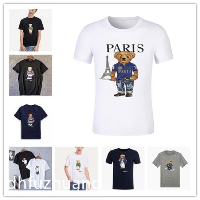 Atacado de alta qualidade Paris cidade designer poloshirt pattern 100% algodão e impresso manga curta t-shirt americano tamanho casual