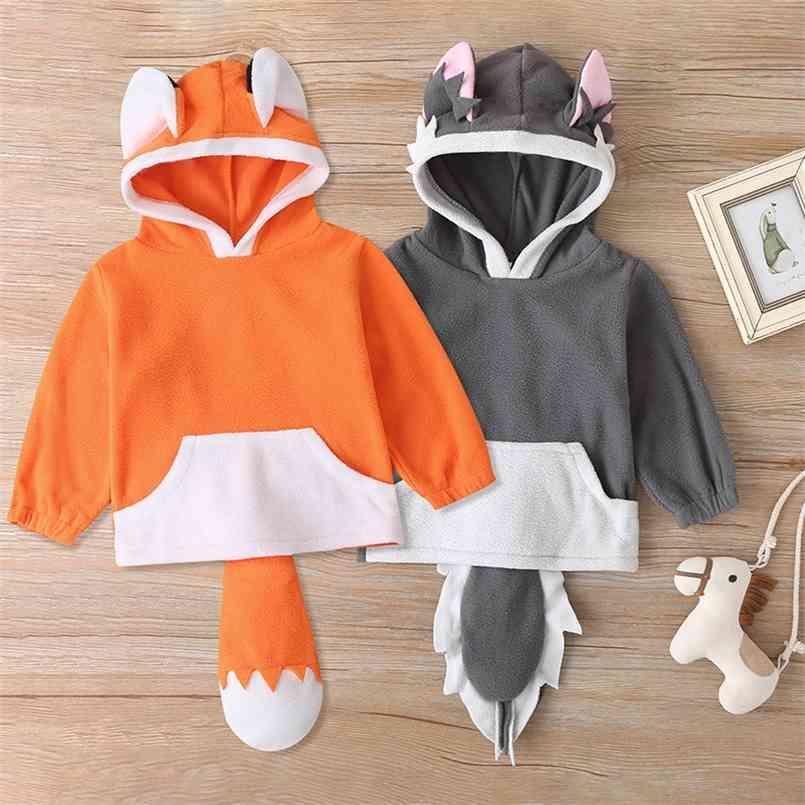 Felpe con cappuccio per bambini Felpe divertenti per bambini Baby boys con cappuccio Felpa forma fresca forma vestiti di moda cotone carino 0-12m 210623