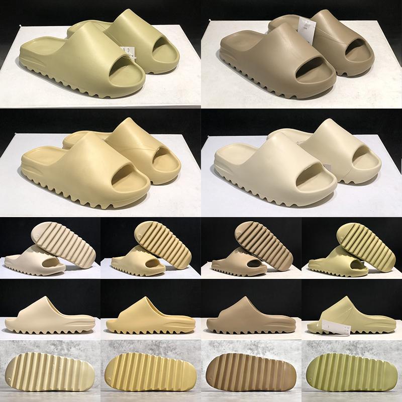 2021 Chaussons de pantoufles fraîches Sand de sable résine Terre Brown Hommes et Femmes Slide Mode Mode Summer Mousse Runner Triple Black Ararat Orange Sandles