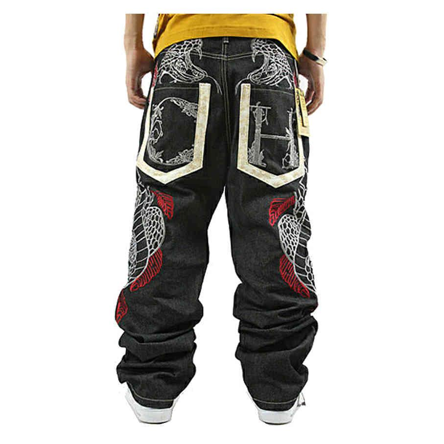 Pantalones Vaqueros Estampados Para Hombre, Jeans Holgados de hip-hop, Bordados Pitn, Hip-Hop, Bombachos, Novovedad 2021