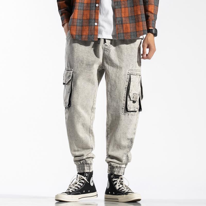 Мужские штаны APROLMOMO2021 Грузовые крупные карманы тактические комбинезоны Весна 2021 и женские повседневные спортивные бренды