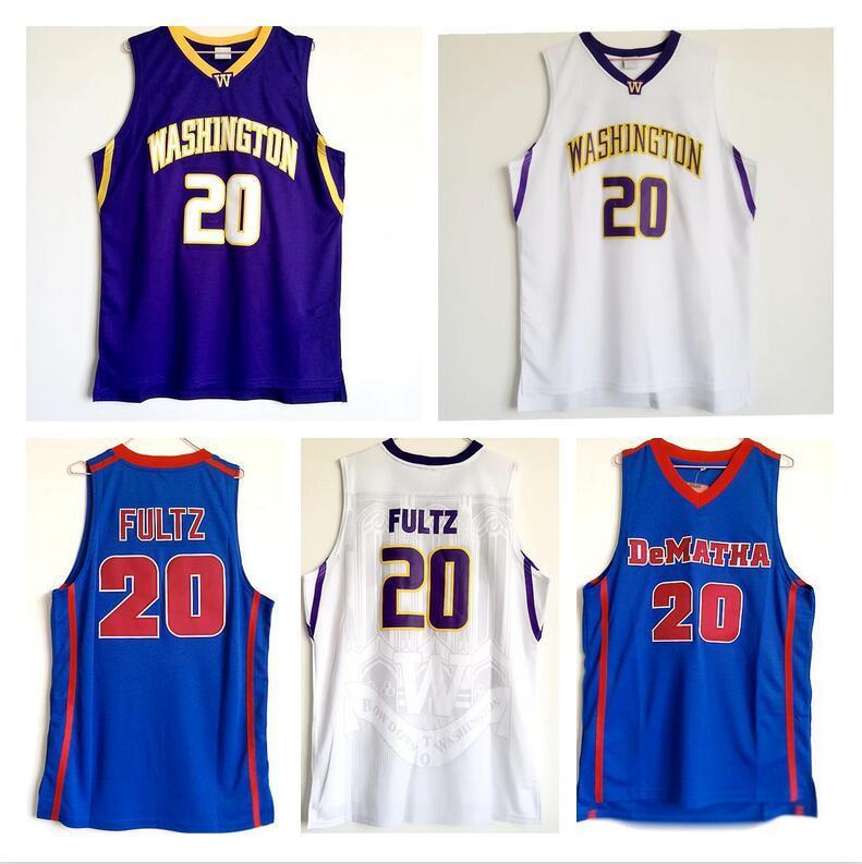 Washington College Jersey genäht Männer lila Schwarz Weiß Universität Markelle Fultz High School Basketball Jersey
