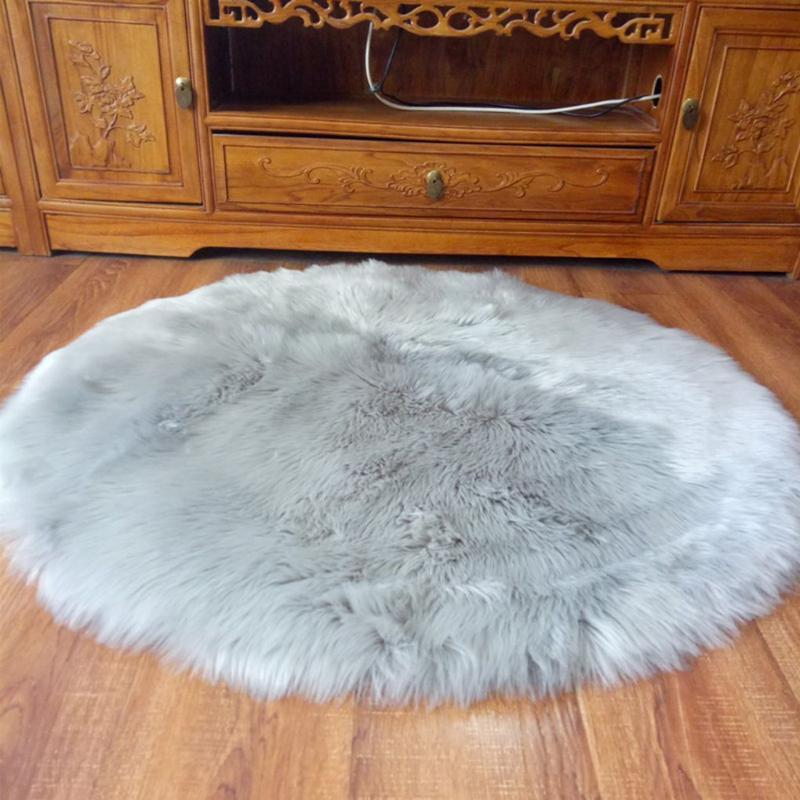 Carpets 30cm Soft Artificial Velvet Rug Chair Cover Bedroom Mat Wool Warm Hairy Carpet Seat Fur Area Rugs Cushion