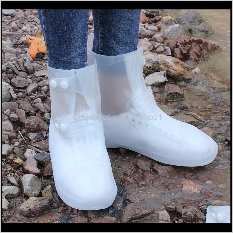Raincoats Household Sundries Home & Garden1 Pair Waterproof Protector Boot Er Unisex Buckle Shoe Ers High-Top Anti-Slip Thicken Rain Shoes C