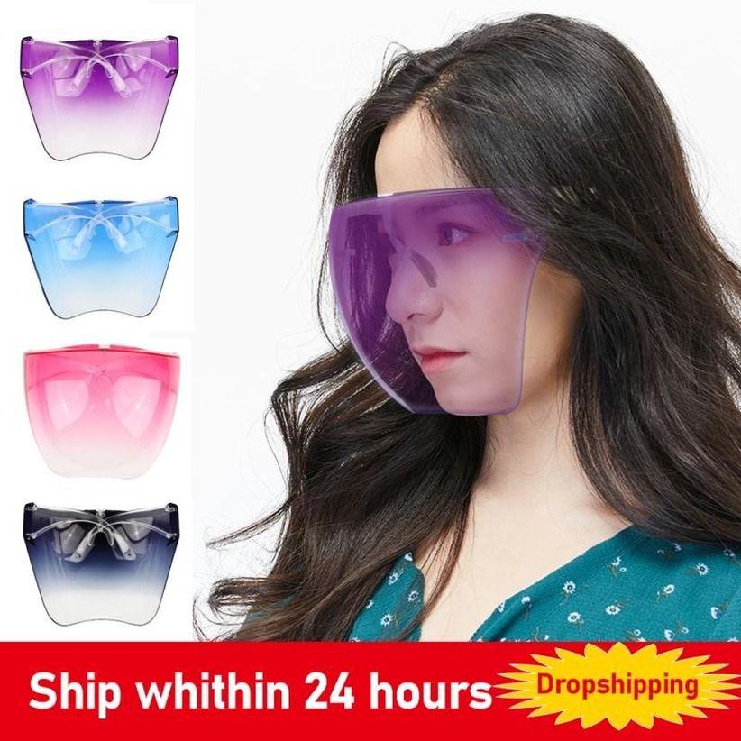 Uomini Donne Protezione Visiera occhiali occhiali Goggles pieno viso coperto lente sferico maschera anti-spray maschera di sicurezza occhiali da sole utensili da cucina