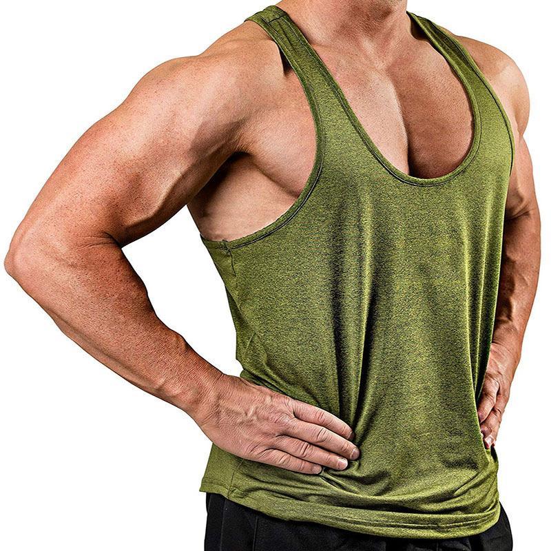Herren-Tanktops Herren Solid Color V-Neck Sleeveless Top T-Shirt Weste
