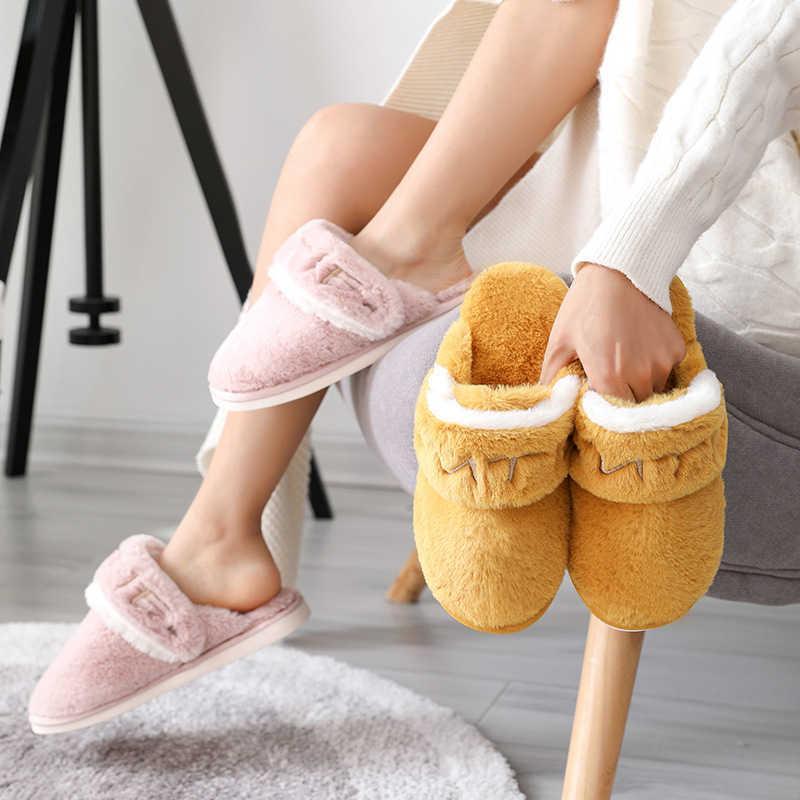 Faux Kaninchen Pelz warme Hausschuhe Frauen Männer Indoor Schuhe Weiche Plüsch 2 Way Wear Liebhaber Home Boden Slipper Komfortable Schuhe SH471 A0602