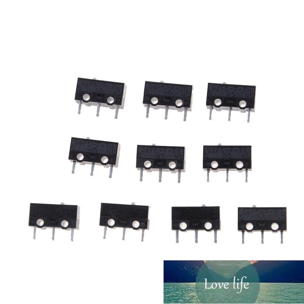 10 pcs autêntico Omron mouse Micro Switch D2FC-F-7N Botão do mouse Fretting D2FC-E-7N D2FC