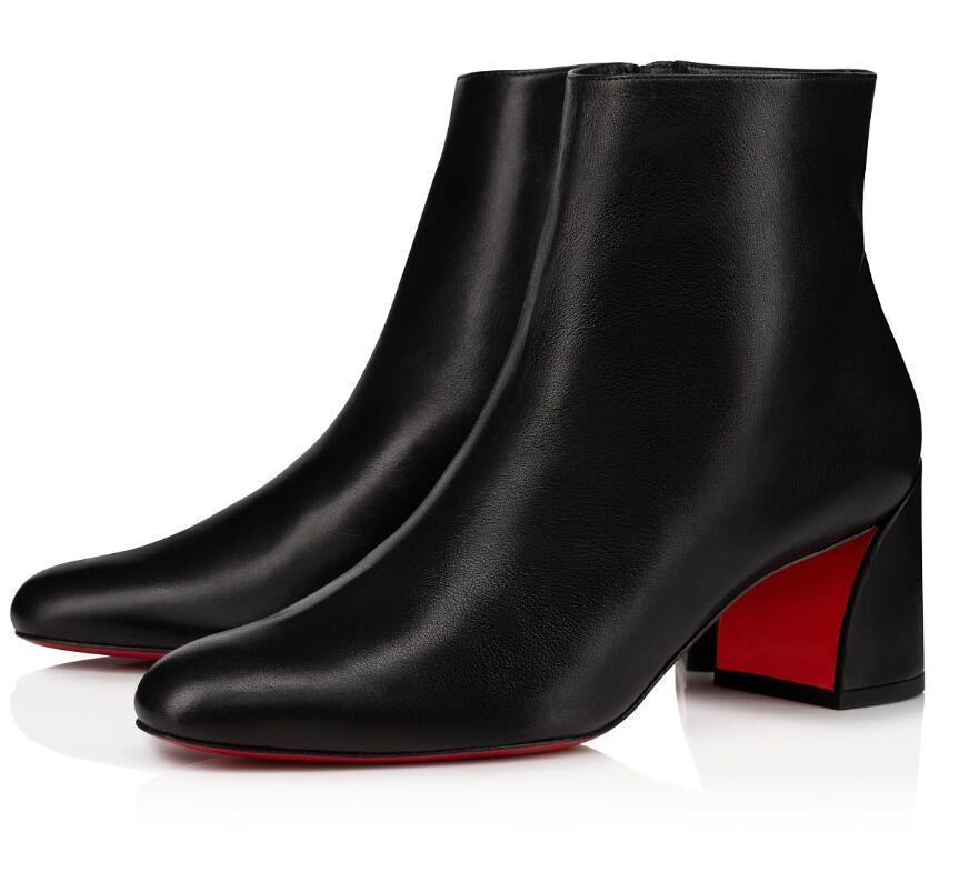 الشتاء ماركات المرأة الأحمر أسفل الضعف أحذية سيدة الجوارب الشهيرة الكاحل التمهيد اللباس حزب الزفاف مثير لطيفة عالية الكعب eu34-43